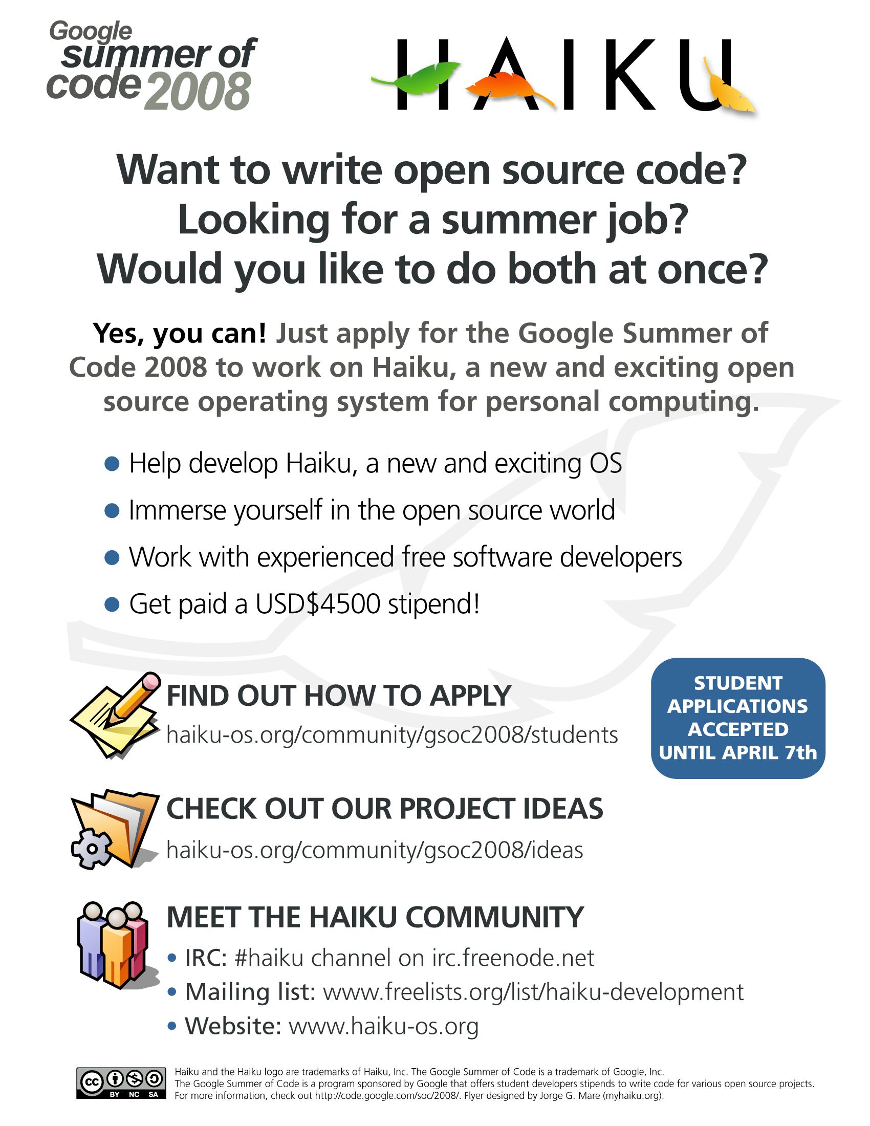 Google Summer of Code | Haiku Project