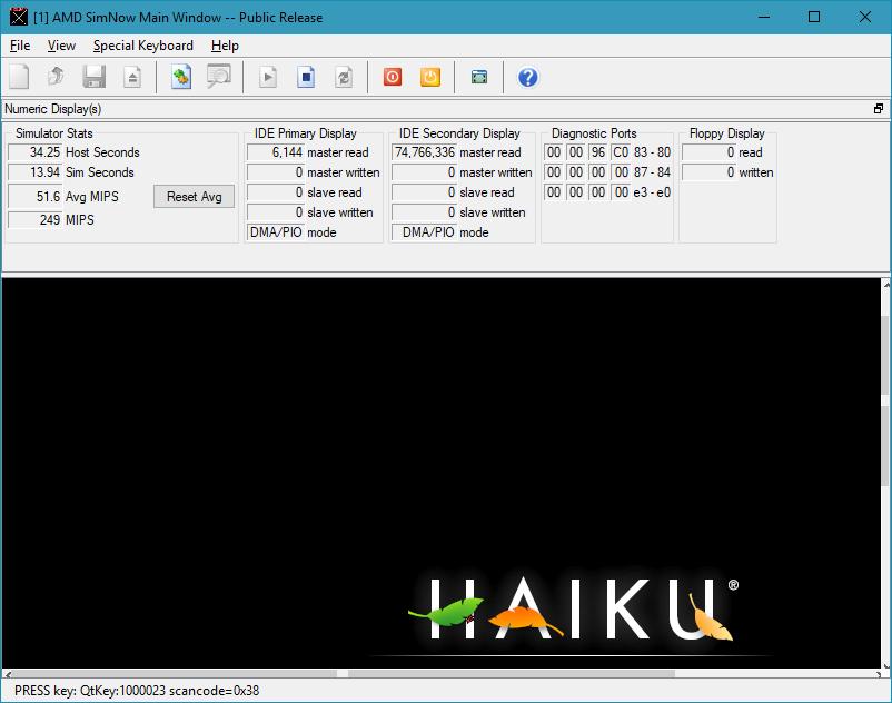 Virtualizing Haiku in SimNow | Haiku Project