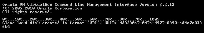 CMD output