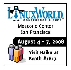 Haiku at Linuxworld 08