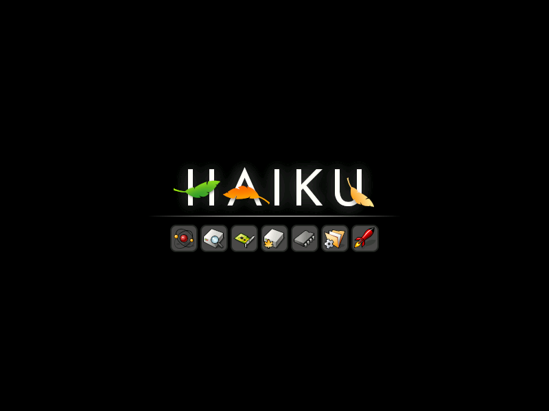 Haiku boot splash screen