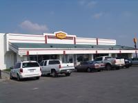 "On the way to LA, we had breakfast at a Dennys ""in the middle of nowhere"""